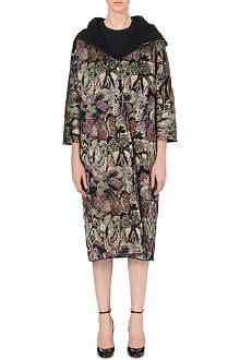 VALENTINO Butterfly jacquard-knit coat