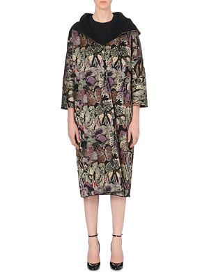 VALENTINO Butterfly jacquard-knit coat