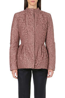 VALENTINO Lace quilted jacket