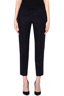 VALENTINO Elasticated-waist wool-blend trousers