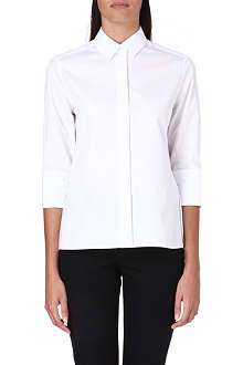 VALENTINO Peplum-detail cotton shirt