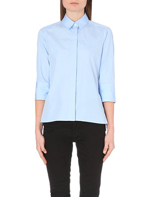 VALENTINO Peplum-back cotton shirt
