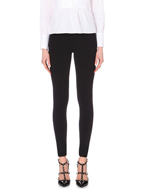 VALENTINO High-rise knitted leggings