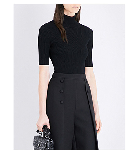 VALENTINO Turtleneck knitted top (Black