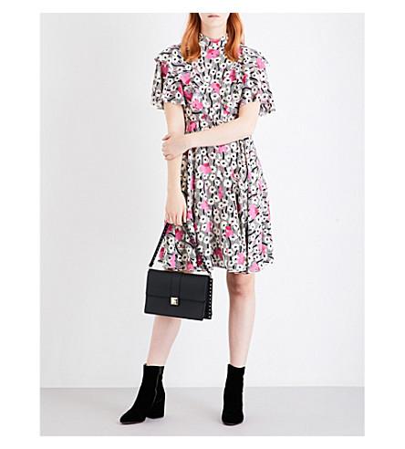 VALENTINO Vady floral-print silk dress (Fursia/ivory/blk