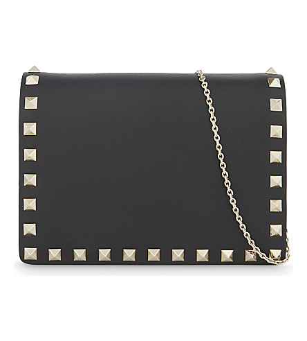 VALENTINO Rockstud small leather cross-body bag (Black