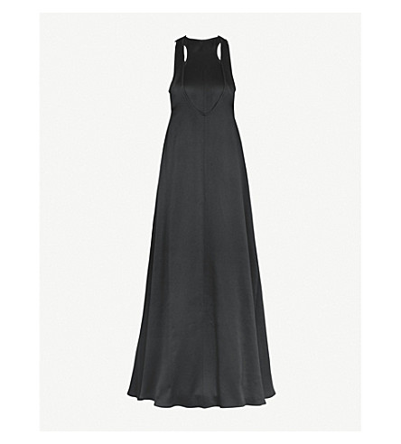 VALENTINO Layered crepe gown (Nero