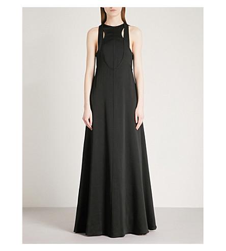 VALENTINO Layered crepe gown (Nero
