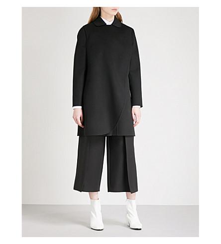 VALENTINO Val p 17 clr dtl coat (Black