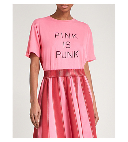 VALENTINO Pink is Punk cotton-jersey T-shirt (Pink