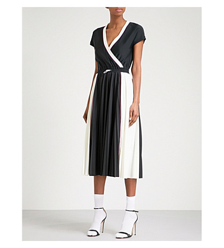 VALENTINO Drawstring waist woven dress (Black