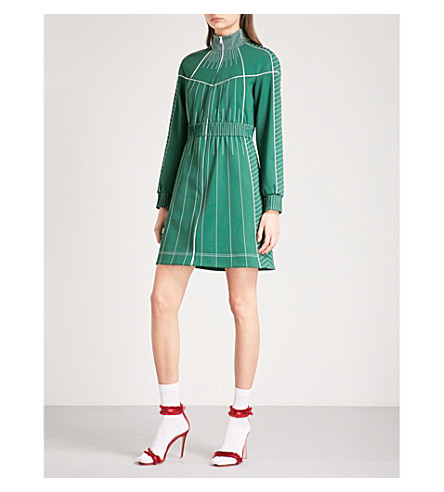 VALENTINO Techno jersey mini dress (Jungle+green