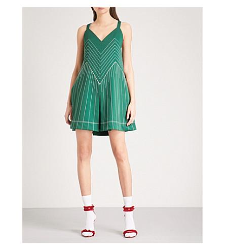 VALENTINO Techno jersey mini dress (Jungle+green