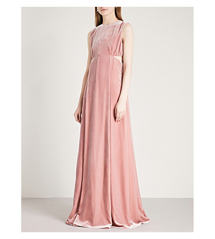 VALENTINO Cutout velvet gown (Rose