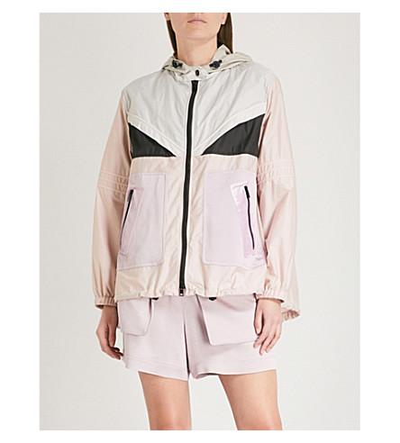 VALENTINO Contrast-panel cotton-blend windbreaker jacket (Multicolor/peach