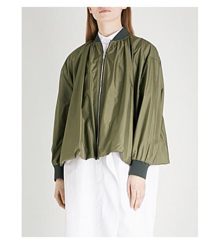 VALENTINO Balloon-hem silk bomber jacket (Cargo