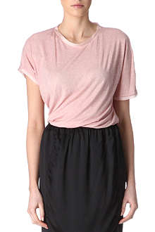 LANVIN Satin-trimmed t-shirt