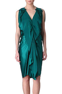LANVIN Ruffle-front silk dress
