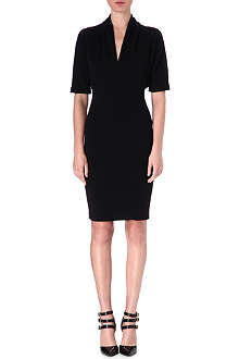 LANVIN V-neck wool dress