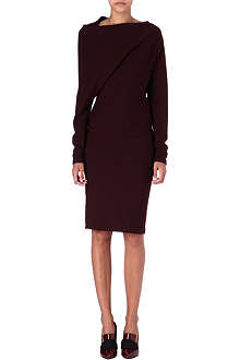 LANVIN Asymmetric wool-blend dress