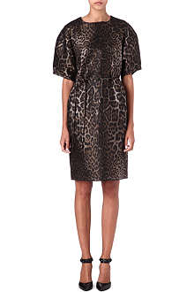 LANVIN Leopard-print jacquard dress