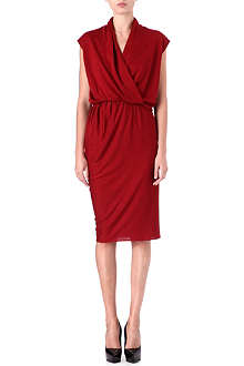 LANVIN Draped cashmere-blend dress