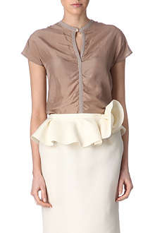 LANVIN Silk-front top