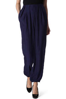 LANVIN Wide-leg silk trousers