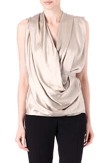 LANVIN Draped wrap top