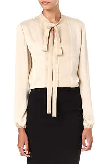 LANVIN Tie-neck satin blouse