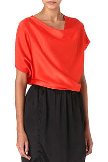 LANVIN Asymmetric satin top