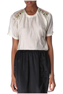 LANVIN Embellished silk top
