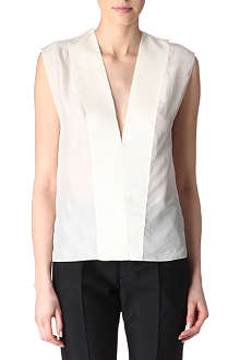 LANVIN Sleeveless grosgrain-trim top