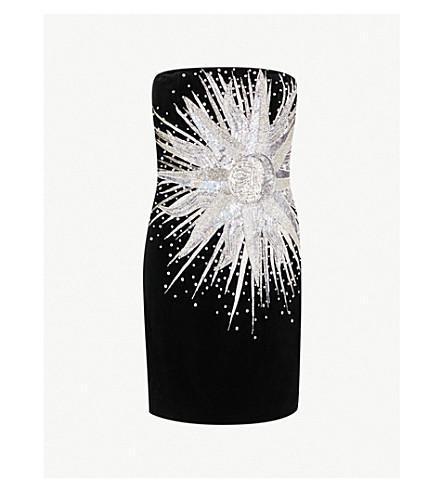 BALMAIN Diamanté and sequin-embellished mini dress (Noir/crystal