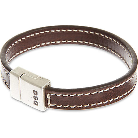 D SQUARED Double leather bracelets (Brown