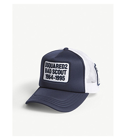 DSQUARED2 Bad Scout trucker snapback cap (Navy