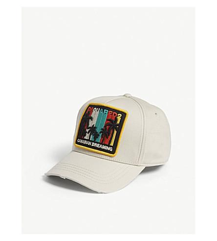 DSQUARED2 Canadian Dreaming cotton strapback cap (Beige