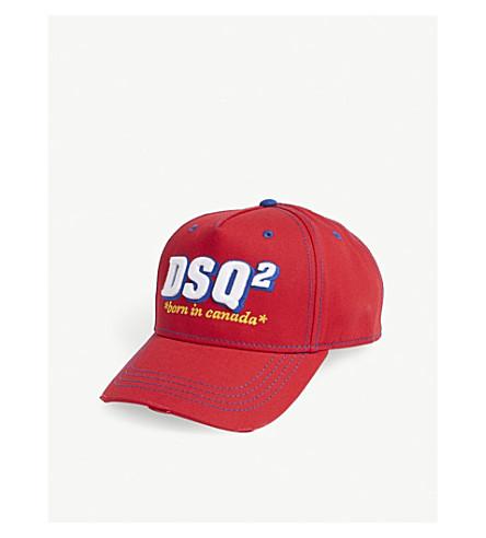 DSQUARED2 Born in Canada cotton strapback cap (Rosso
