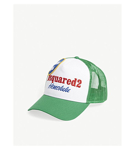 DSQUARED2 Honolulu trucker cap (Verde
