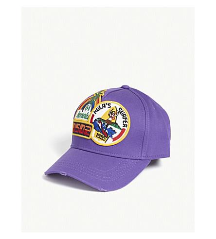DSQUARED2 Hula patch cotton strapback cap (Viola