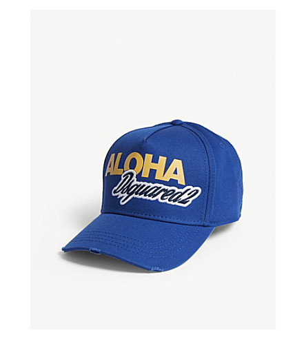 DSQUARED2 Aloha cotton strapback cap (Bluette