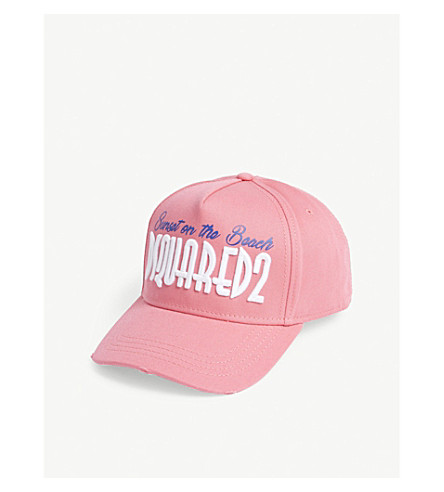 DSQUARED2 ACC Sunset on the beach cotton strapback (Rosa