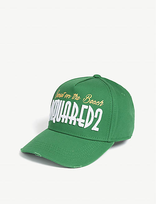 DSQUARED2 Sunset on the beach cotton strapback
