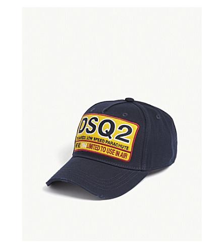 DSQUARED2 Patch cotton strapback cap (Navy