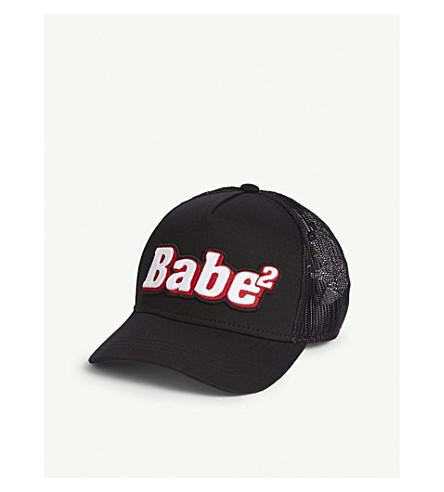 DSQUARED2 Babe2 标志网棉棒球帽 (黑色