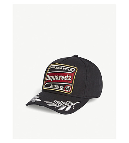 DSQUARED2 Racing logo cotton cap (Black