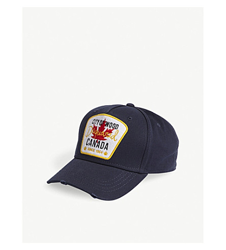 DSQUARED2 City of Wood cotton strapback cap (Navy