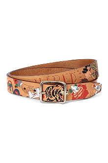 D SQUARED Tattoo-print belt