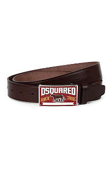 D SQUARED Wild Side leather belt