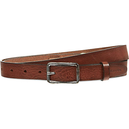 D SQUARED Four panel leather belt (Tan